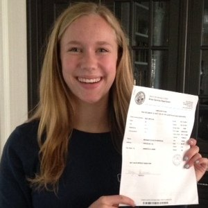 Morgan with Driver's Permit
